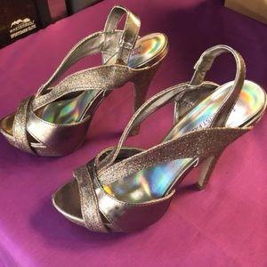 Just Fabulous Glitter Heels